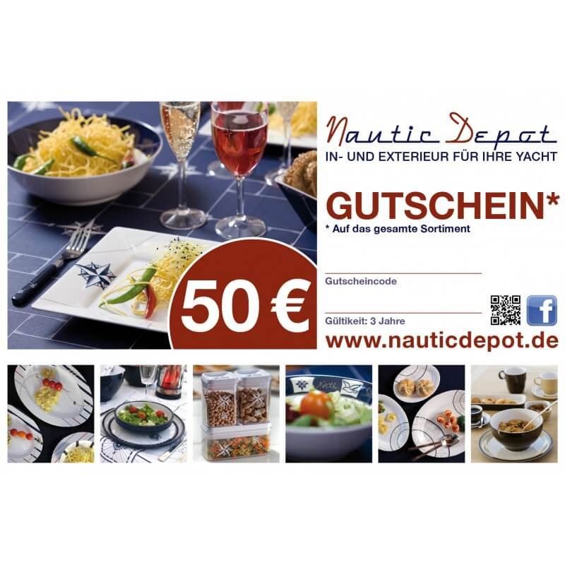 Gutschein 50,-€ Nautic Depot Maritime Geschenke