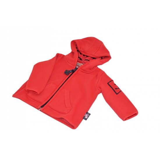 BATELA maritime Sweatshirt Jacke rot BATELA Maritime Mode