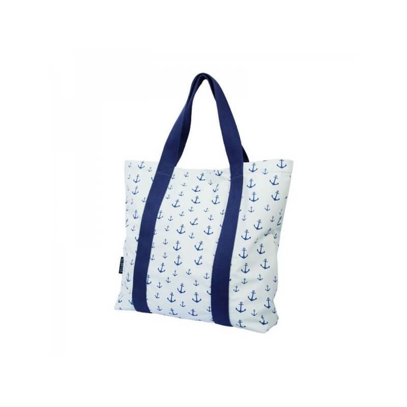 BATELA maritime Handtasche Anker weiß