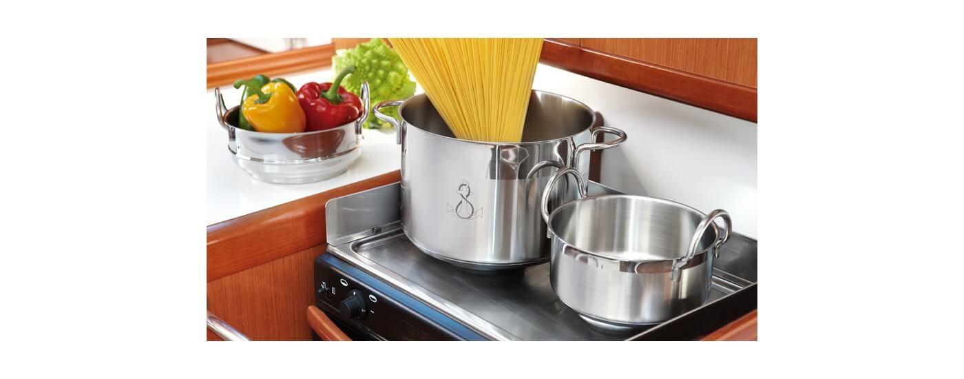 Kitchen - maritime Kochtöpfe für Ihre Bordküche - Kochtopfsets maritim stapelbar