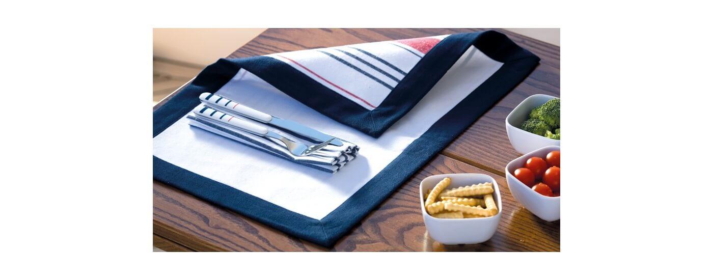 Maritime Tischwaren - Tischdecken maritim für Ihre Yacht - maritime Servietten