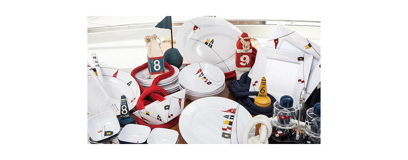 Marine Business REGATA Bootsgeschirr - maritimes Bootsgeschirr aus Melamin von Marine Business