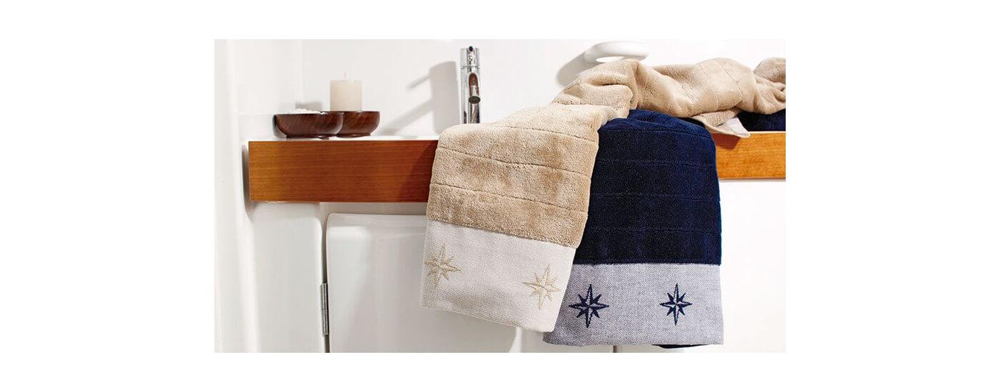 Maritime Handtücher Badvorleger - selbstauflösendes Toilettenpapier für Yachten
